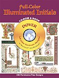 Full-Color Illuminated Initials with CDROM (Dover Full-Color Electronic Design) Cover