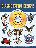 Classic Tattoo Designs with CDROM (Dover Full-Color Electronic Design) Cover