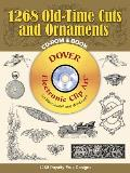 1268 Old-Time Cuts and Ornaments CD-ROM and Book (Electronic Clip Art) Cover
