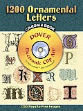 1200 Ornamental Letters with CDROM (Full-Color Electronic Design) Cover