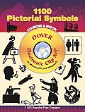 1100 Pictorial Symbols CD-ROM and Book (Electronic Clip Art) Cover