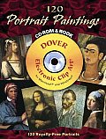 120 Portrait Paintings CD-ROM and Book (Full-Color Electronic Design) Cover