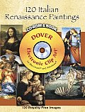 120 Italian Renaissance Paintings CD-ROM and Book Cover