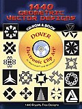1440 Geometric Vector Designs [With CD ROM]