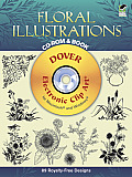 Floral Illustrations CD-ROM and Book with CDROM Cover