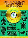 North American Indian Motifs CD ROM & Book