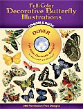 Full-Color Decorative Butterfly Illustrations CD-ROM and Book with Book (Dover Full-Color Electronic Design) Cover