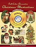 Full-Color Decorative Christmas Illustrations CD-ROM and Book (Dover Full-Color Electronic Design) Cover