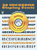 24 Moderne Display Fonts [With CDROM]