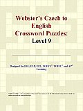 Webster's Czech to English Crossword Puzzles: Level 9
