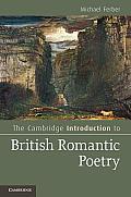 Cambridge Introduction To British Romantic Poetry Michael Ferber