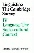 Cambridge Studies in German #4: Language: The Socio-Cultural Context