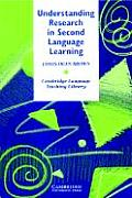 Understanding Research in Second Language Learning (88 Edition)