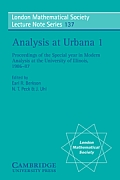 Analysis at Urbana Vol. 1: Analysis in Function Spaces Cover
