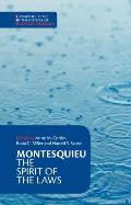 Montesquieu: The Spirit of the Laws (Cambridge Texts in the History of Political Thought) Cover