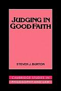 Judging in Good Faith