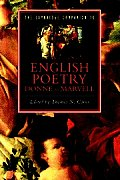 Cambridge Companion To English Poetry, Donne To Marvell (93 Edition)