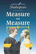 Measure for Measure (Cambridge School Shakespeare) Cover
