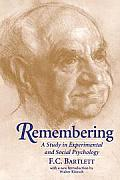 Remembering: A Study in Experimental and Social Psychology