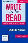 Write to Be Read Teachers Manual...