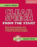Clear Speech from the Start Student's Book with Audio CD: Basic Pronunciation and Listening Comprehension in North American English with CD (Audio) Cover