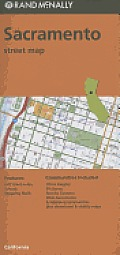 Folded Map Sacramento Streets, CA