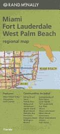 Folded Map South Florida Miami / West Palm Beach Regional