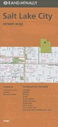 Folded Map Salt Lake City Streets UT