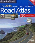 2014 Road Atlas Midsize Easy to Read - Perfect Bound
