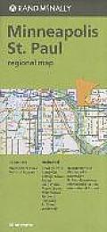 Folded Map Minneapolis /St Paul Reg., MN