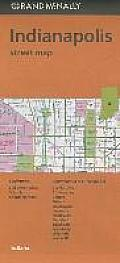 Folded Map Indianapolis Streets in