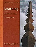 Learning : Behavior and Cognition (3RD 00 Edition)