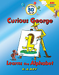 Curious George Learns the Alphabet 50th Birthday Edition with flash cards
