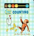 Curious George Curious Baby Counting Board Book with Beads
