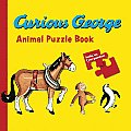 Curious George Animals Puzzle Book (Curious George Board Books)