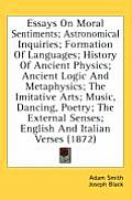 Essays on Moral Sentiments; Astronomical Inquiries; Formation of Languages; History of Ancient Physics; Ancient Logic and Metaphysics; The Imitative A
