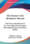 The Farmers' and Mechanics' Manual: With Many Valuable Tables for Machinists, Manufacturers, Merchants, Builders and Others (1868)