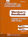 Holt Literature & Language Arts: Language & Sentence Skills Practice, Fifth Course: Support for Warriner's Handbook