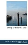 Writings of Dr. Carl H. Horsch
