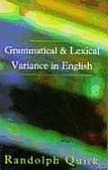 Grammatical Lexical Variance Engl
