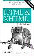 HTML and XHTML Pocket Reference (Pocket Reference) Cover