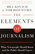 Elements Of Journalism What Newspeople S