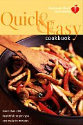American Heart Association Quick & Easy Cookbook: More Than 200 Healthful Recipes You Can Make in Minutes Cover