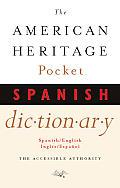 American Heritage Pocket Spanish Dictionary Spanish English English Spanish