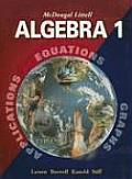 McDougal Littell Algebra 1 Applications Equations & Graphs 2004 Edition