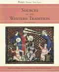 Sources of the Western Tradition Volume 1 From Ancient Times to the Enlightenment