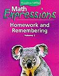Math Expressions Homework and Remembering, Volume 2