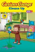 Curious George Cleans Up: Level 1: Curious about Technology (Curious George)