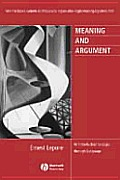 Meaning & Argument An Introduction To Logic Thr