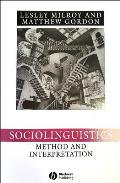 Sociolinguistics (Language in Society) Cover